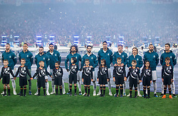 The team Real Madrid lineup before the UEFA Champions League final football match between Liverpool and Real Madrid at the Olympic Stadium in Kiev, Ukraine on May 26, 2018.Photo by Sandi Fiser / Sportida