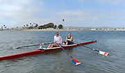 """San Diego, California. USA.  USA Double Olympian Gold Medalist,  Zsuzsanna """"Susan"""" FRANCIA, in  her role as  Women's Varsity coach at the San Diego Rowing Club. Mission Bay.  15:29:54.  Thursday  11/04/2013   [Mandatory Credit. Peter Spurrier/Intersport Images]"""