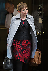 Downing Street, London, April 12th 2016. Leader of the House of Lords, Baroness Tina Stowell leaves the weekly cabinet meeting. <br /> ©Paul Davey<br /> FOR LICENCING CONTACT: Paul Davey +44 (0) 7966 016 296 paul@pauldaveycreative.co.uk