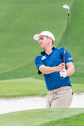 May 4, 2019 - Charlotte, NC, U.S. - CHARLOTTE, NC - MAY 04:  Brendon Todd hits from the sand on the 3rd hole during the third round of the Wells Fargo Championship at Quail Hollow on May 4, 2019 in Charlotte, NC. (Photo by William Howard/Icon Sportswire) (Credit Image: © William Howard/Icon SMI via ZUMA Press)
