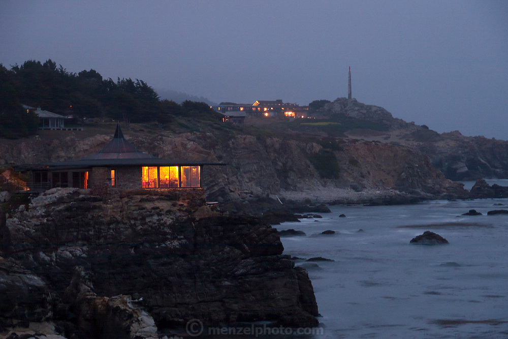 Timber Cove, N. California house on rocky coast with friends. MODEL RELEASED.