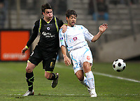 Fotball<br /> Frankrike<br /> Foto: DPPI/Digitalsport<br /> NORWAY ONLY<br /> <br /> FOOTBALL - FRENCH CHAMPIONSHIP 2007/2008 - L1 - OLYMPIQUE MARSEILLE v VALENCIENNES - 19/01/2008 -  JAUN ANGEL KRUOVIESA (OM) / FILIP SEBO (VAL)