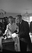 Liam Cosgrave Votes In General Election (E47).1973..28.02.1973..02.28.1973..28th February 1973..After sixteen consecutive years of Fianna Fail Government the Irish people went to the polls today to elect a new government. Mr Liam Cosgrave hoped that a coalition with Labour would oust the current office holders.
