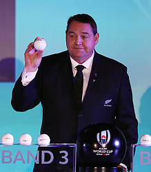 KYOTO, JAPAN - MAY 10: Steve Hansen, Head Coach of New Zealand draws Georgia during the Rugby World Cup 2019 Pool Draw at the Kyoto State Guest House on May 10, in Kyoto, Japan. Photo by Dave Rogers - World Rugby/PARSPIX/ABACAPRESS.COM