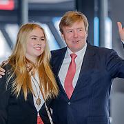 NLD/Amsterdam/20190127 - Jumping Amsterdam, dag 3, aankomst Willem-Alexander en dochter Amalia
