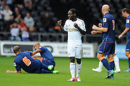 Swansea city's Nathan Dyer (c)  .Pre-season friendly match, Swansea city v Blackpool at the Liberty Stadium in Swansea, South Wales on Tuesday 7th August 2012. pic by Andrew Orchard, Andrew Orchard sports photography,