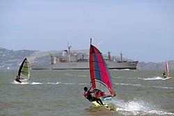 Wind Surfing On San Francisco Bay