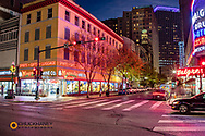 Canal Street and Roosevelt Way in New Orleans, Louisiana, USA