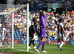 Stoke City's Peter Crouch reacts after a missed chance