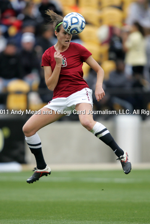 04 December 2011: Stanford's Kendall Romine. The Stanford University Cardinal defeated the Duke University Blue Devils 1-0 at KSU Soccer Stadium in Kennesaw, Georgia in the NCAA Division I Women's Soccer College Cup Final.