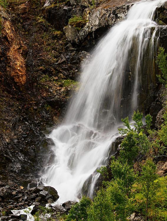 Norway - Waterfall in Sør-Tverrfjord