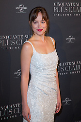 Dakota Johnson attends Fifty Shades Freed world premiere at Salle Pleyel on February 06, 2018 in Paris, France. Photo by ABACAPRESS.COM
