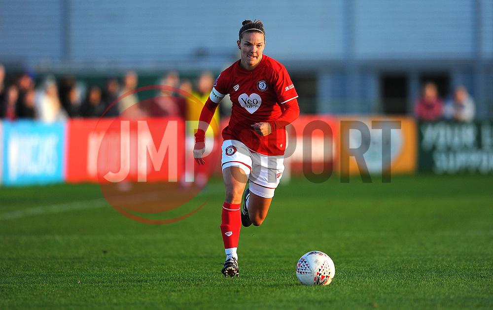 Loren Dykes of Bristol City in action- Mandatory by-line: Nizaam Jones/JMP - 27/10/2019 - FOOTBALL - Stoke Gifford Stadium - Bristol, England - Bristol City Women v Tottenham Hotspur Women - Barclays FA Women's Super League