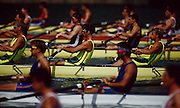 .Barcelona Olympic Games 1992.Olympic Regatta - Lake Banyoles.AUS M4-.'Oarsome foursome'.Andrew Cooper, Michael Scott, Nic Green and James Tomkins.Side shot, heats..       {Mandatory Credit: © Peter Spurrier/Intersport Images]..........       {Mandatory Credit: © Peter Spurrier/Intersport Images].........