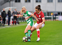 Chloe Arthur of Bristol City Women battles with Nadia Lawrence of Yeovil Town Ladies - Mandatory by-line: Craig Thomas/JMP - 30/09/2017 - RUGBY - Sixways Stadium - Worcester, England - Worcester Valkyries v Saracens Women - Tyrrells Premier 15s