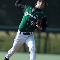 11 April 2010: Justin Fry of Montigny pitches during game  1/week 1 of the French Elite season won 5-1 by Rouen over Montigny, at the Cougars Stadium in Montigny le Bretonneux, France.