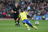 Idrissa Gueye of Everton in action. Premier League match, Burnley v Everton at Turf Moor in Burnley , Lancs on Saturday 22nd October 2016.<br /> pic by Chris Stading, Andrew Orchard sports photography.