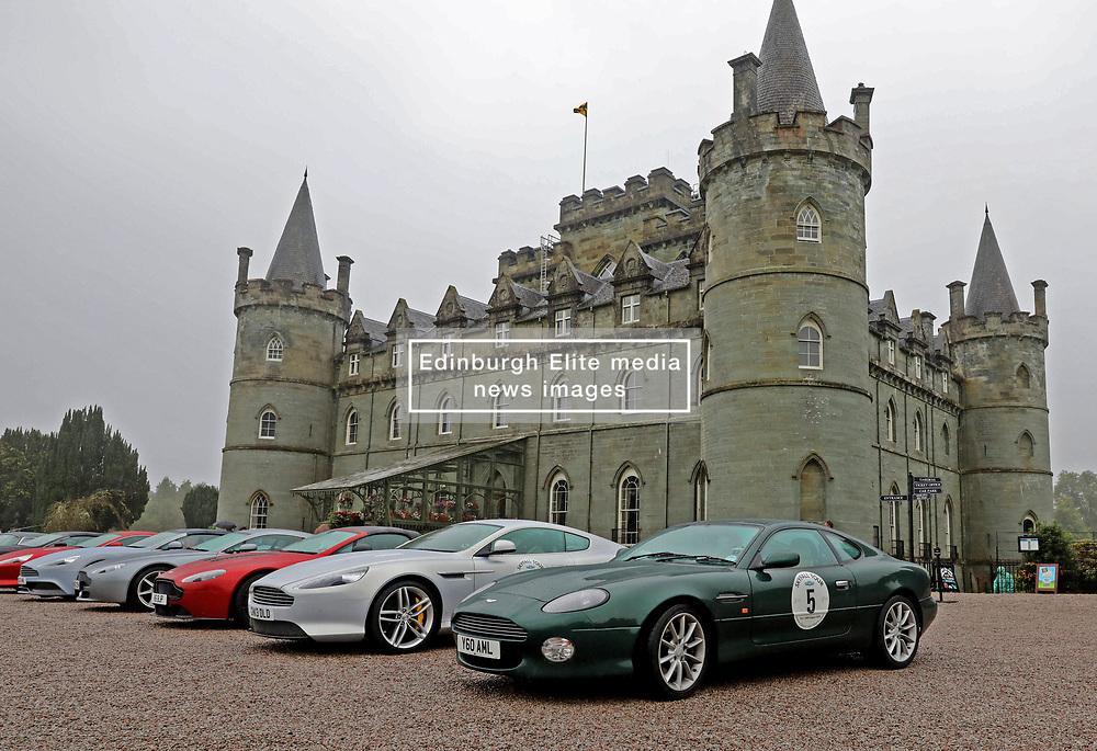 20 Aston Martins stop off at Inveraray Castle as part of the the SkyFall Tour. Aston Martin DB2, DB4 GT, DB5, DBS V8, DB7 and DB9 models were all present....... (c) Stephen Lawson | Edinburgh Elite media