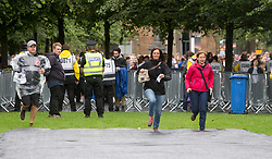 First through the gates on Friday at TRNSMT music festival, Glasgow Green.
