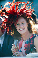 Grand National Meeting - Ladies' Day<br /> e.g. of caption:<br /> National Hunt Horse Racing - 2017 Randox Grand National Festival - Friday, Day Two [Ladies' Day]<br /> <br />   <br /> female racegoers in hat before the 7th race Weatherbys Private Bank Standard Open NH Flat Race (Grade 2) (Class 1)2m 209y, Good<br /> 19 Runners.at Aintree Racecourse.<br /> <br /> COLORSPORT/WINSTON BYNORTH