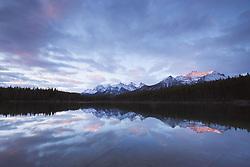 Herbert Lake, sunrise, Banff National Park