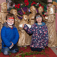 Sean and Roisin Madden from Parteen visiting the Christmas Nativity Cribs at Liscannor Church