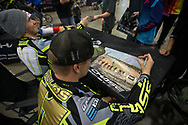 Connor Fields (USA), Chase Bicycles signing autographs at the USA BMX Grand Nationals in Tulsa, Oklahoma