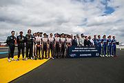 Mike Conway, Kamui Kobayashi, Jose Maria Lopez, 8 Toyota Racing, Toyota TS050 Hybrid, Sebastien Buemi, Kazuki Nakajima, Fernando Alonso<br /> <br /> TOYOTA GAZOO  Racing. <br /> Le Mans 24 Hours Race, 11th to 17th June 2018<br /> Circuit de la Sarthe, Le Mans, France.
