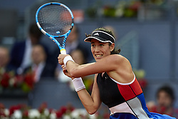 May 9, 2018 - Madrid, Madrid, Spain - Garbine Muguruza of Spain in action in her match against Daria Kasatkina of Russia during day five of the Mutua Madrid Open tennis tournament at the Caja Magica on May 9, 2018 in Madrid, Spain  (Credit Image: © David Aliaga/NurPhoto via ZUMA Press)