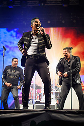 Jermaine Jackson performing with The Jacksons during the Glastonbury Festival at Worthy Farm in Pilton, Somerset. Picture date: Saturday June 24th 2017. Photo credit should read: Matt Crossick/ EMPICS Entertainment.