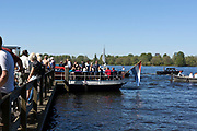 the Ms Helena ferry over the Nieuwe Meer on the side of Amsterdam forrest by Wilgenlaantje