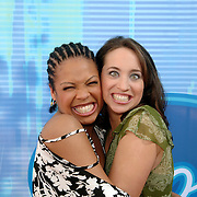 NLD/Baarn/20051229 - Persconferentie finalisten Idols 2005, Raffaela en Ariel