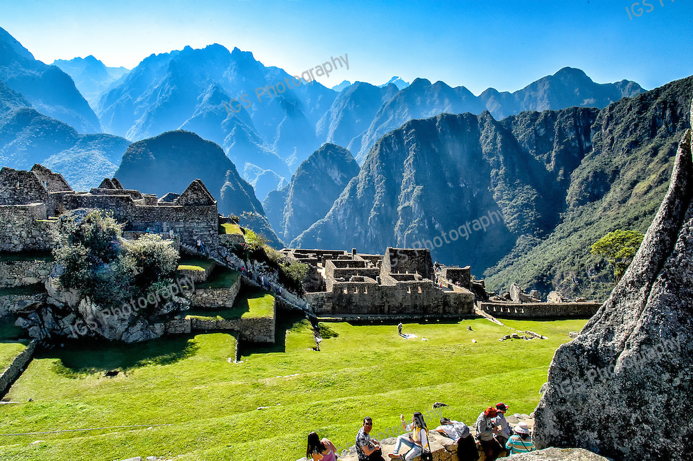 Buildings and Terraces in and around the Principal plaza, Machu Picchu