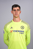 COBHAM, ENGLAND - AUGUST 11: Thibaut Courtois of Chelsea during the Official Portrait session at Chelsea Training Ground on August 11, 2016 in Cobham, England. (Photo by Darren Walsh/Chelsea FC via Getty Images)