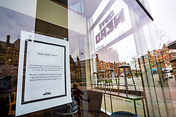 Signs of the Corona Virus Cafe Nero Sheffield City Centre<br /> 21 March 2020<br /> <br /> www.pauldaviddrabble.co.uk<br /> All Images Copyright Paul David Drabble - <br /> All rights Reserved - <br /> Moral Rights Asserted -
