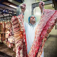 Nederland, Baambrugge, 23 april 2016.<br /> koopeenkoe.nl, een duurzaam bedrijf, waar je online SAMEN een koe kan kopen. Het vleespakket wordt pas opgestuurd als de hele koe verkocht is. Op het terrein is een boerderij, slagerij, etc. <br /> Initiatiefnemer is Yvo van Rijen.<br /> <br /> <br /> Netherlands, Baambrugge, April 23, 2016<br /> koopeenkoe.nl, a sustainable business where you can buy a cow TOGETHER online. The meat packet will only be sent once the whole cow has been sold. On the property there is a farm and a butcher. Initiator is Yvo van Rijen.<br /> Foto: Jean-Pierre Jans