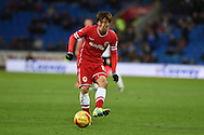 Kim Bo-Kyung of Cardiff city in action.Skybet football league championship match, Cardiff city v Rotherham Utd at the Cardiff city stadium in Cardiff, South Wales on Saturday 6th December 2014<br /> pic by Andrew Orchard, Andrew Orchard sports photography.