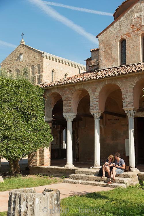 The Cathedral of Santa Maria Assunta (Cattedrale di Santa Maria Assunta), Island of Torcello, Venice, Italy, Europe