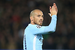 David Silva of Manchester City during the UEFA Champions League group F match between Feyenoord Rotterdam and Manchester City at the Kuip on September 13, 2017 in Rotterdam, The Netherlands
