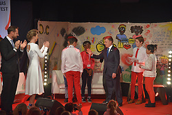 December 10, 2016 - Colombian President attends a 'Save the Children Peace Prize Party', which was dedicated to him and his efforts in achieving peace in Colombia. The Party has taken place in an Oslo school to which Manuel Santos  was accompanied by Crown princess Mette Marit Haakonas and the Crown Prince of Norway (Credit Image: © Abdelwaheb Omar/ImagesLive via ZUMA Wire)