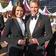NLD/Amsterdam/20150530 - Amsterdamdiner 2015, Merel Westrik en partner Patrick