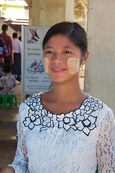Woman Vendor Posing, Shwezigon Pagoda