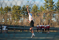 St Paul's varsity Tennis versus Proctor Academy May 5, 2014.  Karen Bobotas for St Paul's School