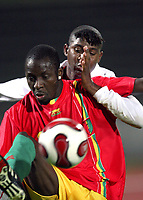 Fotball<br /> 20.11.2007<br /> Angola v Guinea<br /> Foto: Dppi/Digitalsport<br /> NORWAY ONLY<br /> <br /> FOOTBALL - FRIENDLY GAMES 2007/2008 - ANGOLA v GUINEA - 20/11/2007 - SAMBEGOU BANGOURA (GUI) / LOCO (ANG)