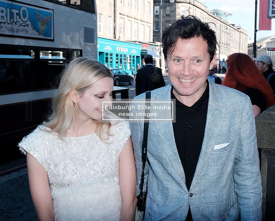 Edinburgh International Film Festival 2019<br /> <br /> Hurt By Paradise (World Premiere)<br /> <br /> Stars and guests arrive on the red carpet for the world premiere<br /> <br /> Pictured:  Director Greta Bellamacina and Robert Montgomery<br /> <br /> Alex Todd   Edinburgh Elite media