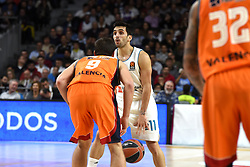 December 19, 2017 - Madrid, Madrid, Spain - Facundo Campazzo (center), #11 of Real Madrid in action during the 2017/2018 Turkish Airlines EuroLeague Regular Season Round 13 game between Real Madrid and Valencia Basket at WiZink center in Madrid. (Credit Image: © Jorge Sanz/Pacific Press via ZUMA Wire)