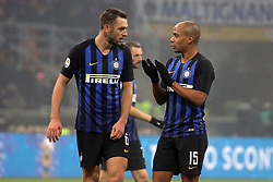 December 26, 2018 - Milan, Milan, Italy - Stefan De Vrij #6 of FC Internazionale Milano and Joao Mario #15 of FC Internazionale Milano during the serie A match between FC Internazionale and SSC Napoli at Stadio Giuseppe Meazza on December 26, 2018 in Milan, Italy. (Credit Image: © Giuseppe Cottini/NurPhoto via ZUMA Press)