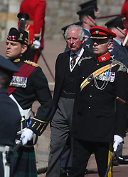 The Prince of Wales walking in the procession to St George's Chapel, Windsor Castle, Berkshire, for the funeral of the Duke of Edinburgh. Picture date: Saturday April 17, 2021.
