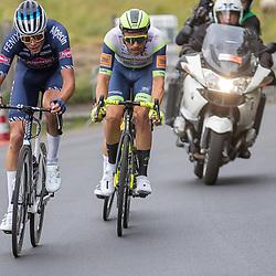WIJSTER (NED) June 20: <br /> CYCLING <br /> Dutch Nationals Road Men up and around the Col du VAM<br /> Boy VAN POPPEL (Netherlands / Team Intermarche - Wanty Gobert), Oscar Riesebeek (Netherlands / Team Alpecin - Fenix)