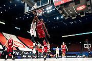 Elegar Frank,Paul Biligha<br /> A|X Armani Exchange Milano - UNAHOTELS Reggio Emilia<br /> Lega Basket Serie A<br /> Milano  17/01/2021<br /> Foto : Ivan Mancini / Ciamillo